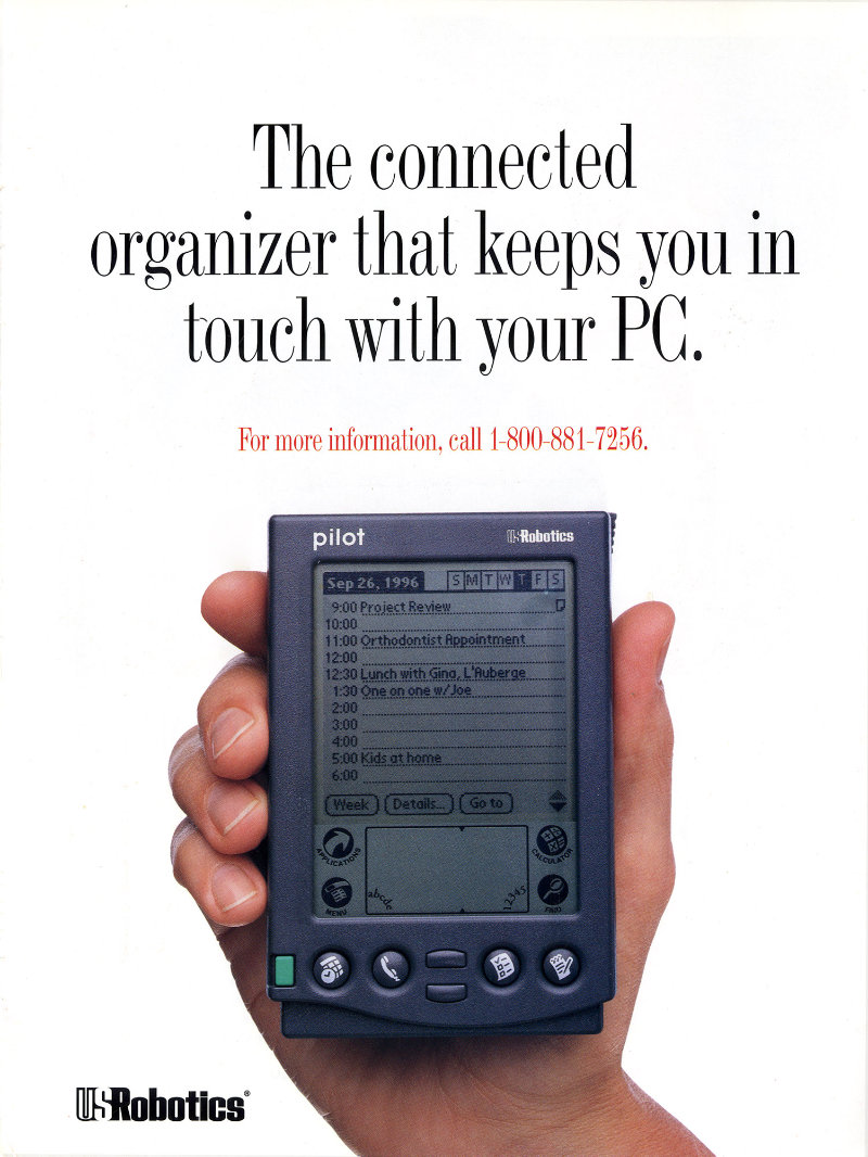 PalmPilot advert