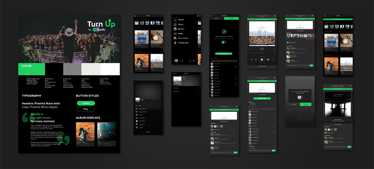 Sammy de Joya Spotify design