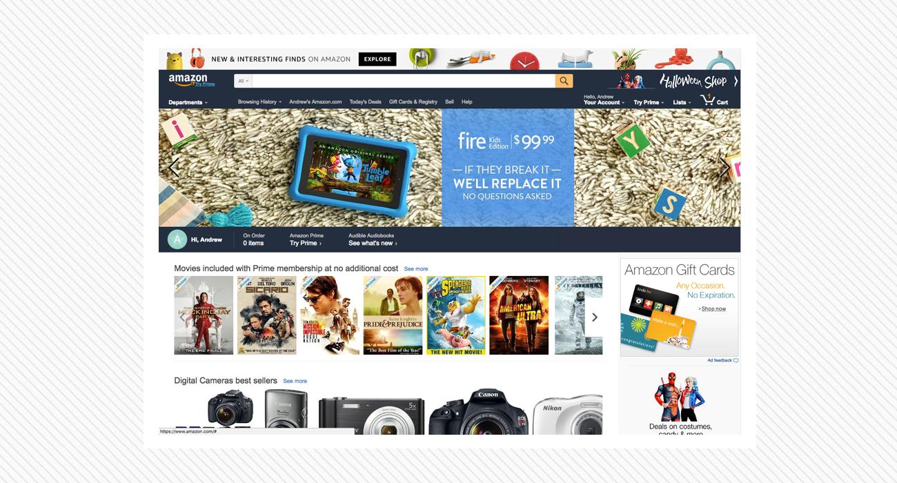 Amazon UI