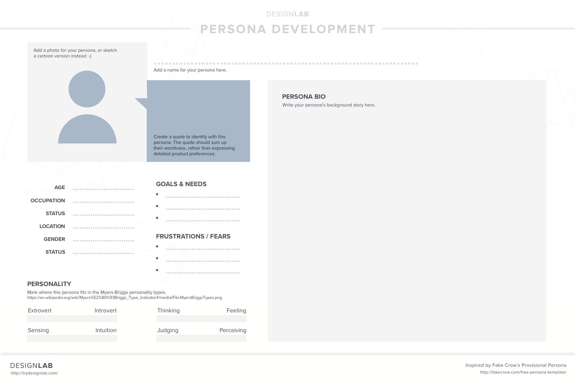 12 days of uxmas day 4 outline some user personas designlab
