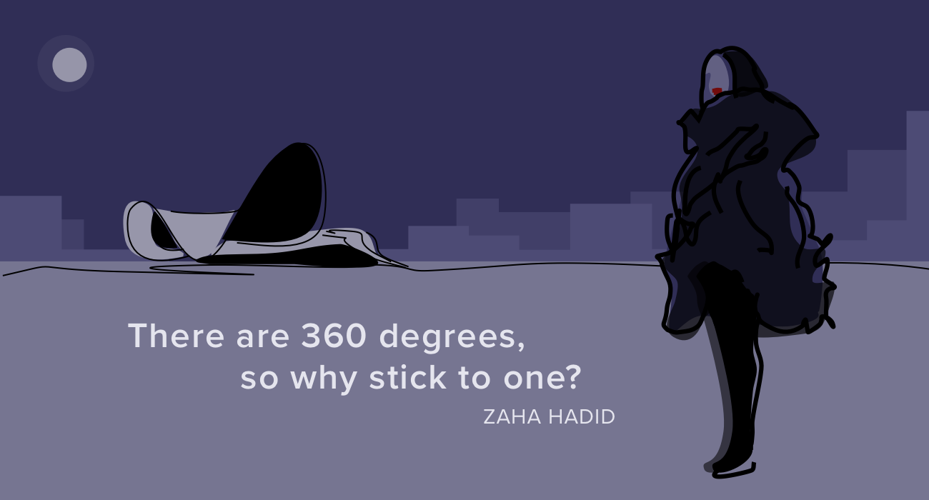 Zaha Hadid 360 Degrees illustration