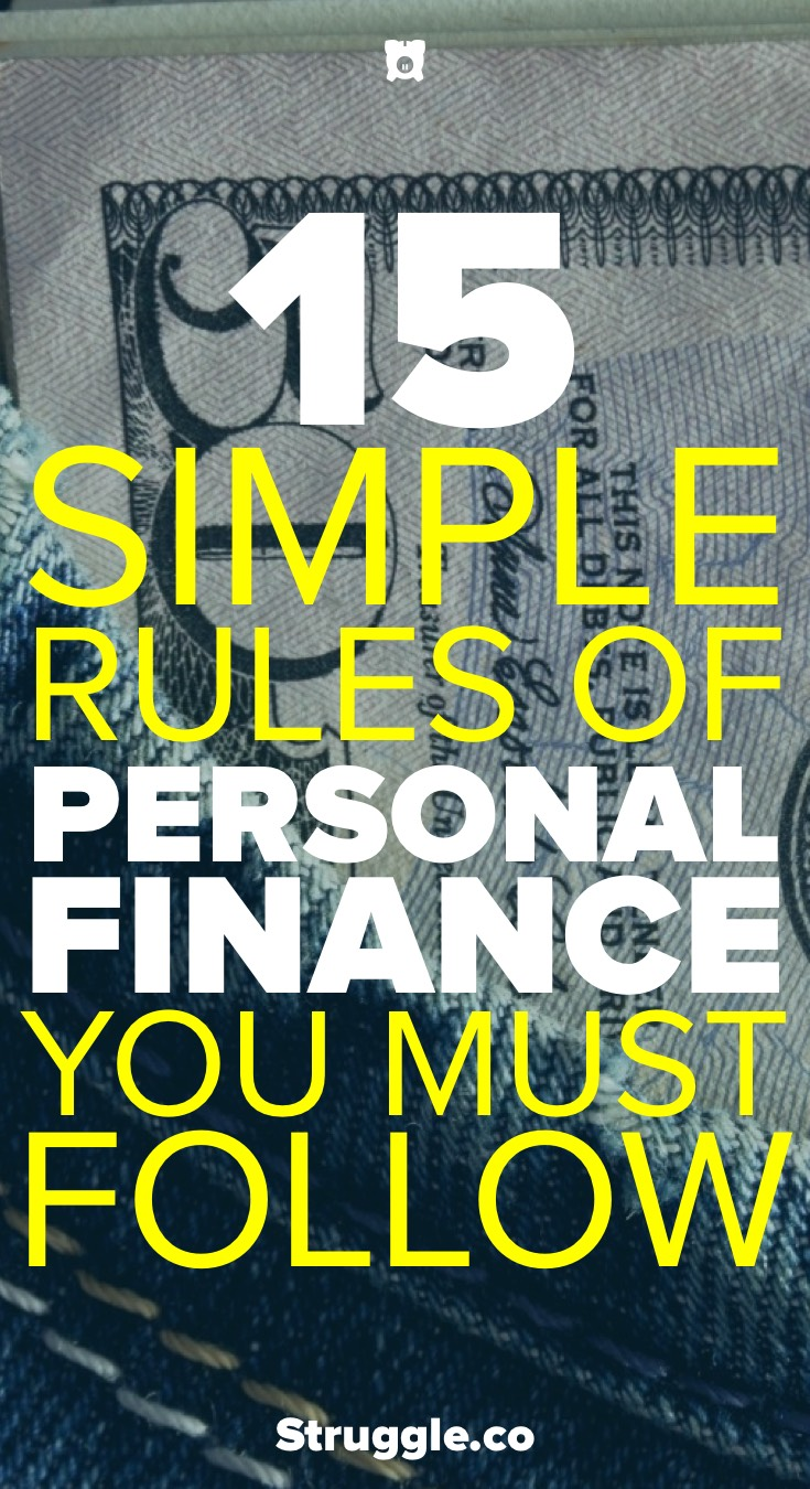 15 Simple Rules of Personal Finance You Must Follow