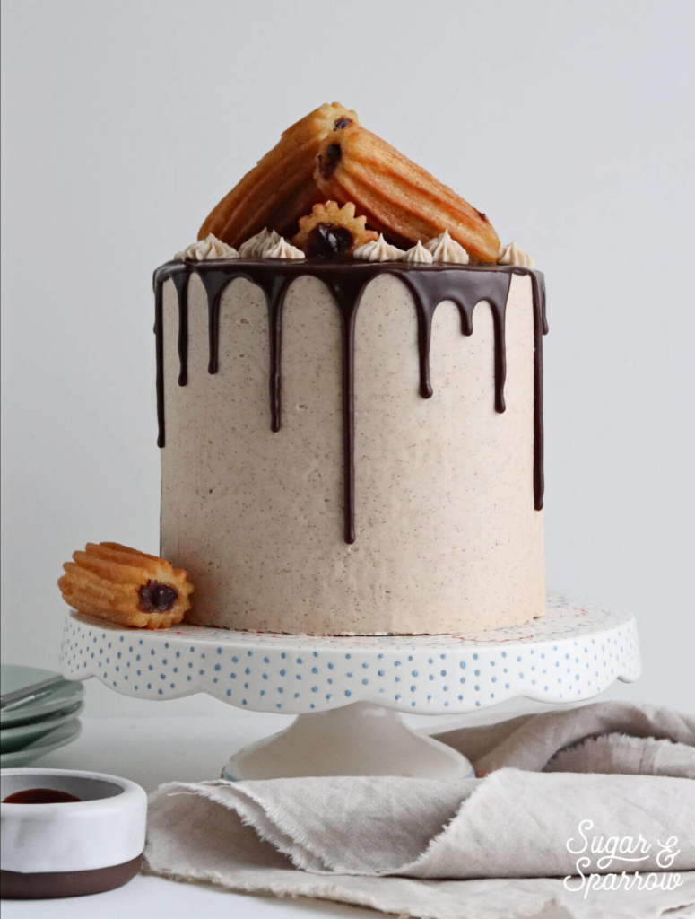 churro cake recipe by sugar and sparrow