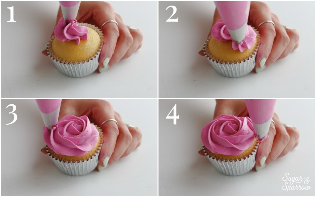 How to pipe buttercream rosettes
