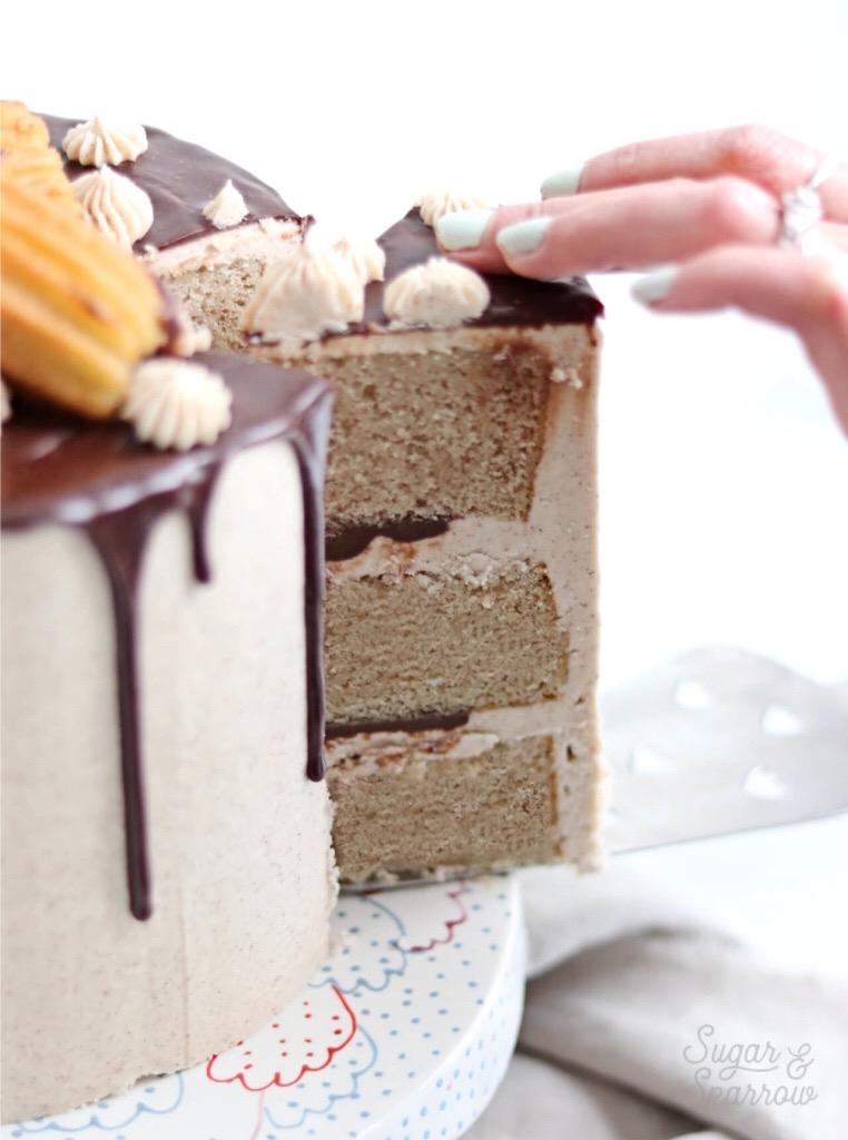 churro cake recipe with cinnamon vanilla buttercream