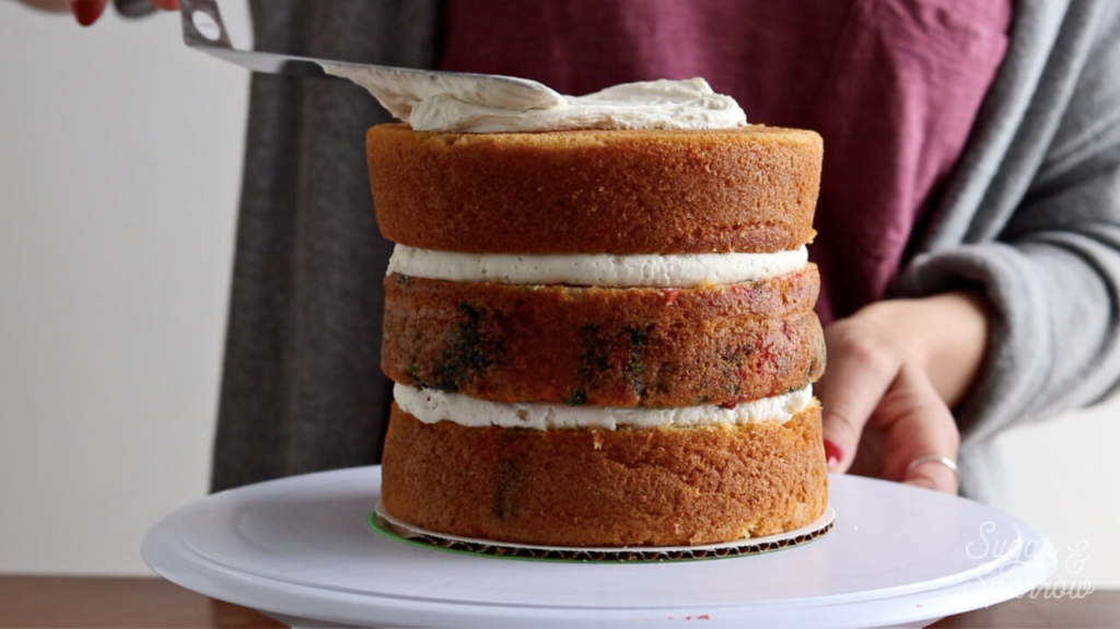how to frost a semi naked cake