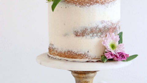 how to frost semi naked buttercream cake