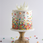 milk and cereal milksplash cake by sugar and sparrow