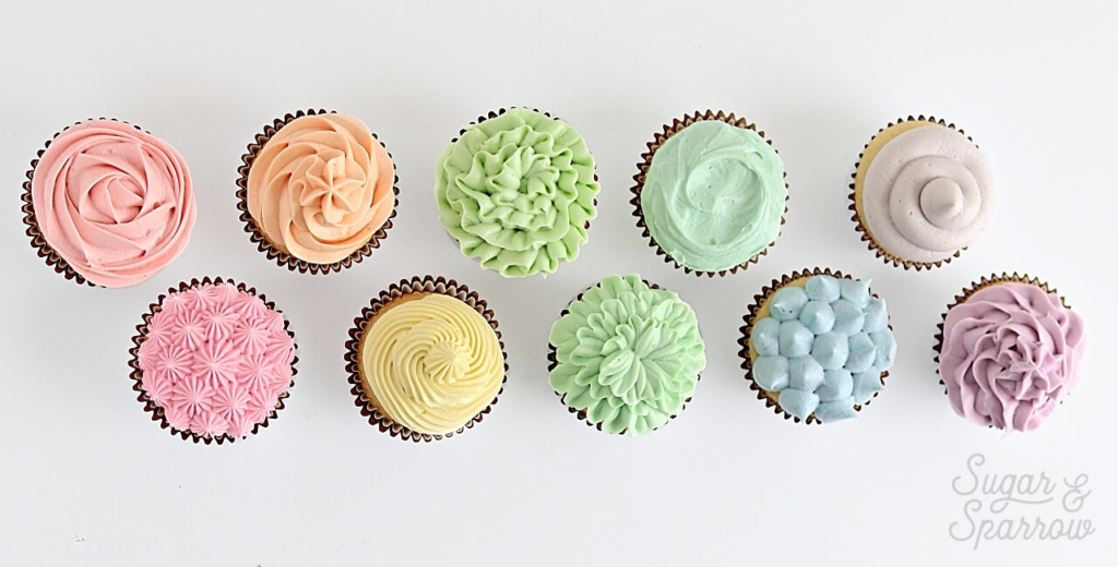 cupcake decorating techniques by sugar and sparrow