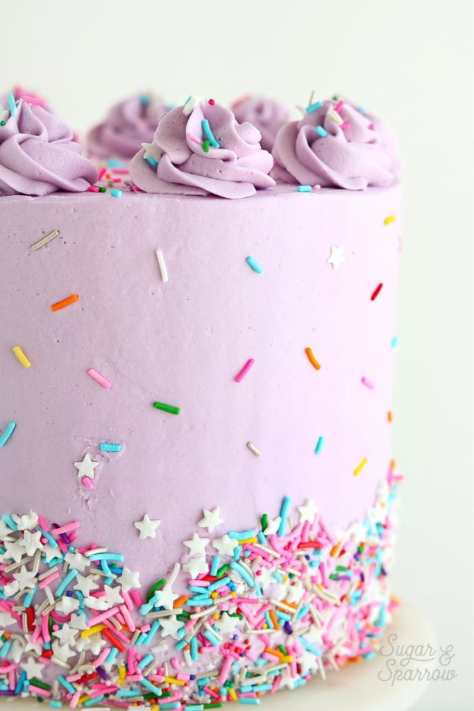 funfetti cake by sugar and sparrow