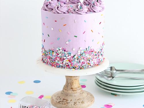 Amazing Rainbow Funfetti Cake Recipe Sugar Sparrow Funny Birthday Cards Online Elaedamsfinfo