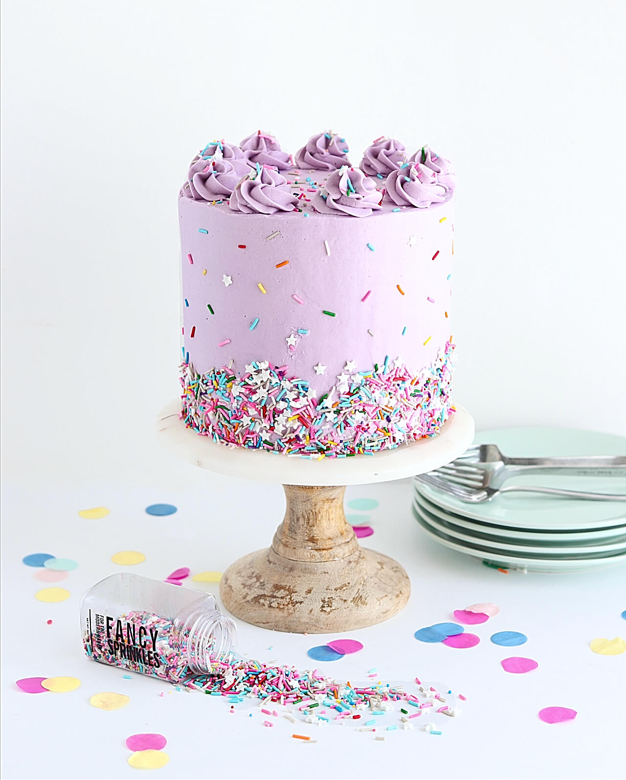 Marvelous Rainbow Funfetti Cake Recipe Sugar Sparrow Personalised Birthday Cards Veneteletsinfo