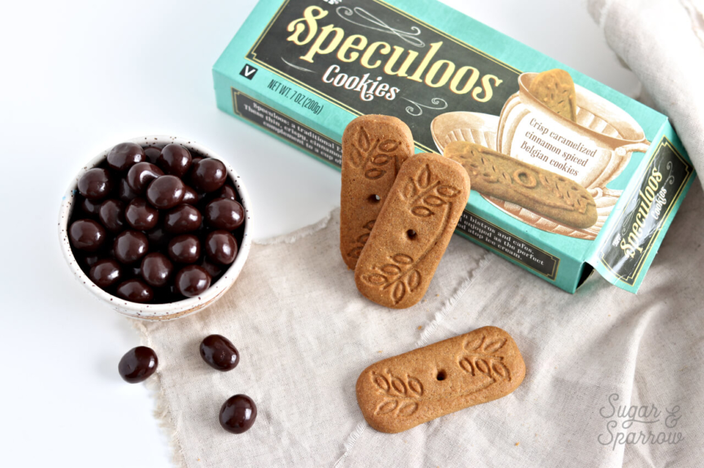 Trader Joe's Speculoos cookies and chocolate covered espresso beans
