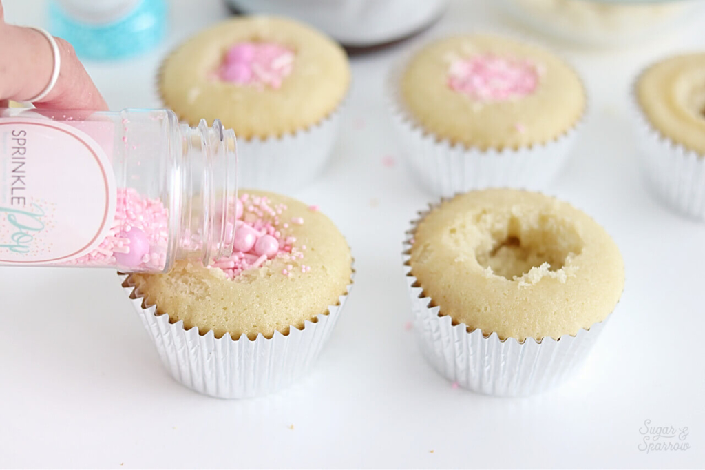 cupcakes filled with sprinkles by SprinklePop