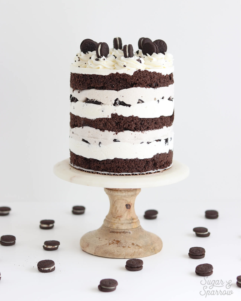 oreo ice cream cake recipe by sugar and sparrow