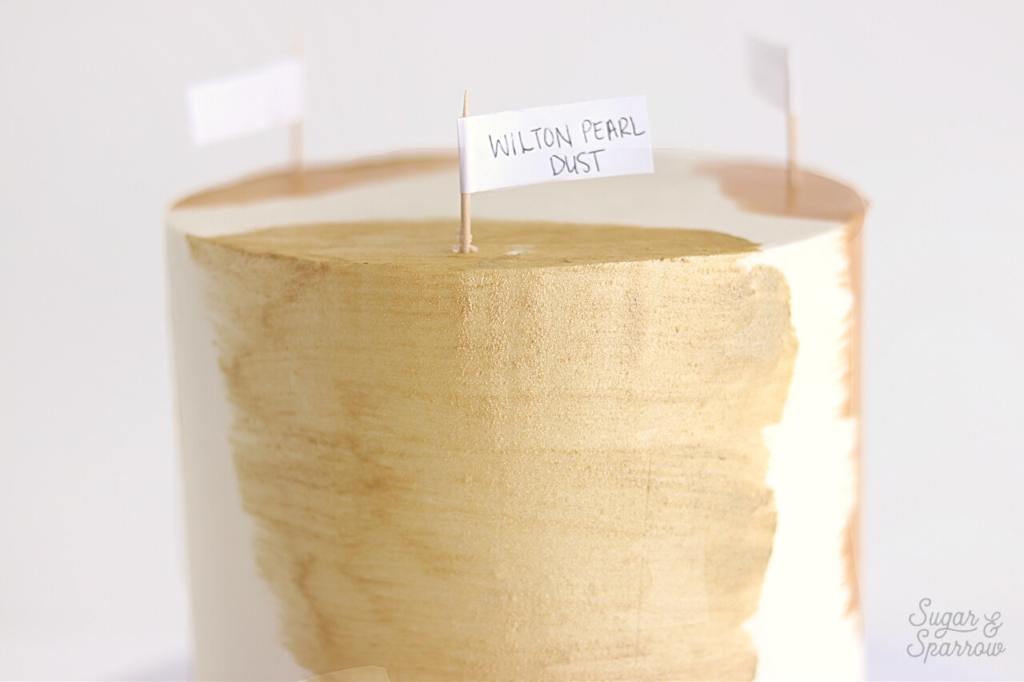 wilton gold luster dust buttercream
