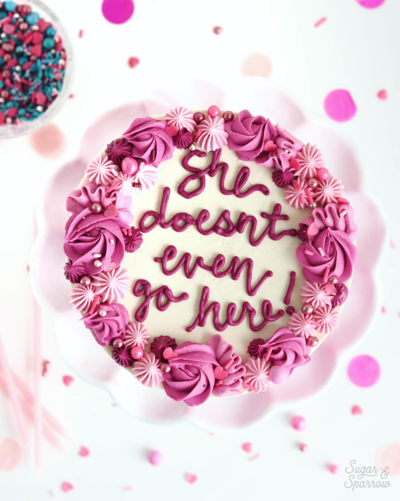 mean girls quote cake by sugar and sparrow