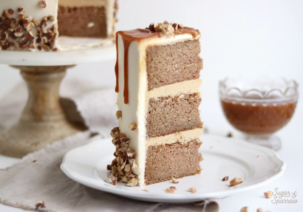 apple spice cake recipe by sugar and sparrow