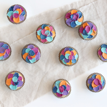 spatula painted cupcakes by sugar and sparrow