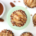 turtle cupcakes recipe by sugar and sparrow