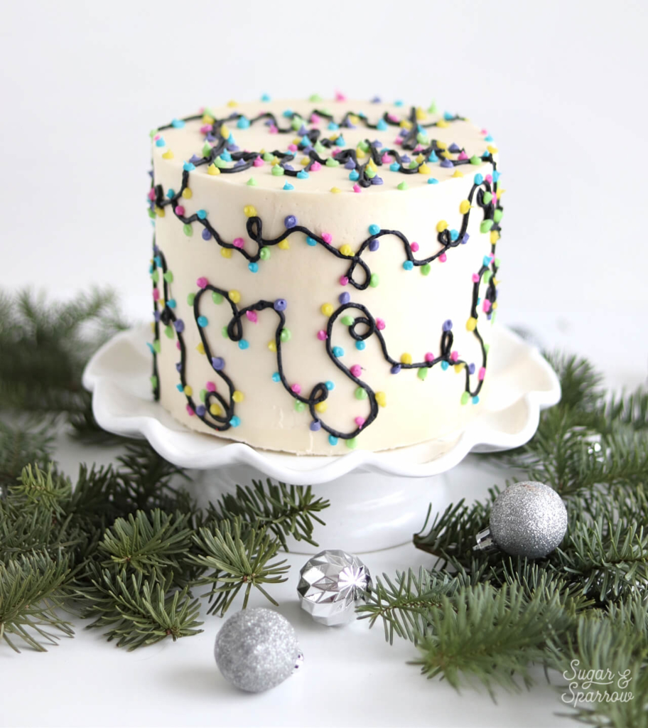 merry and bright cake tutorial