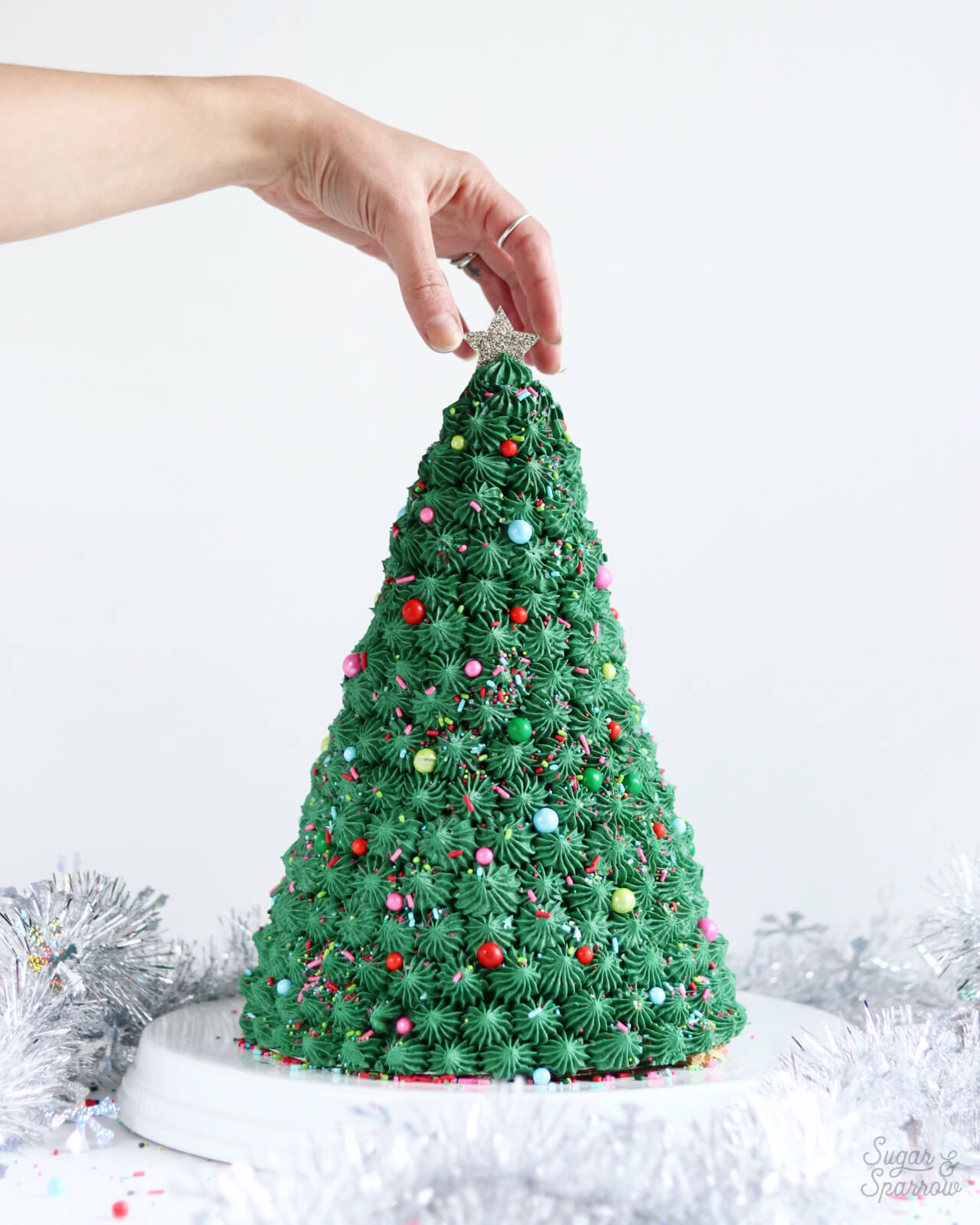 christmas tree shaped cake Archives - Sugar & Sparrow