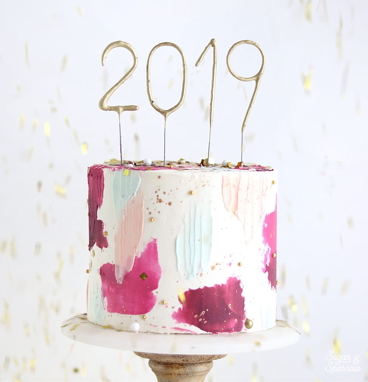 New Years cake by sugar and sparrow