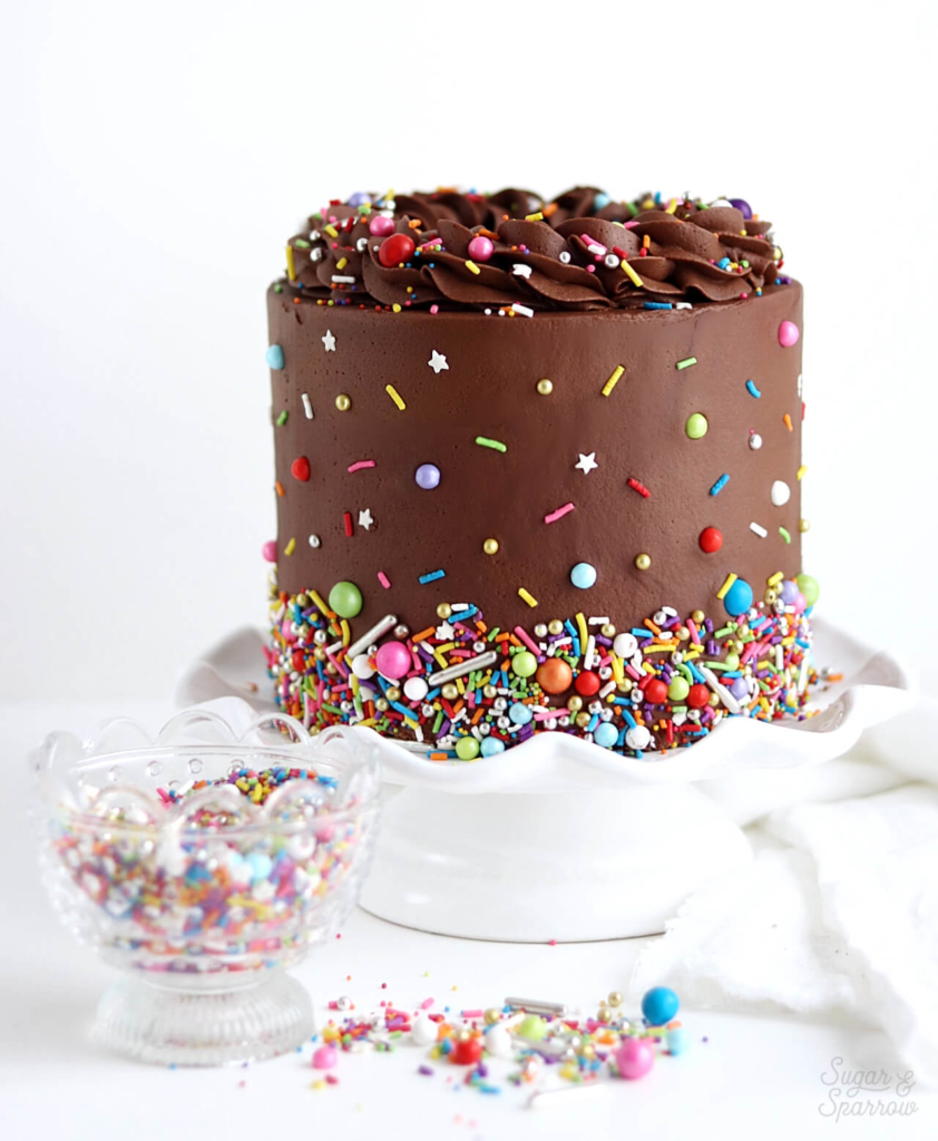 easy chocolate cake recipe by sugar and sparrow