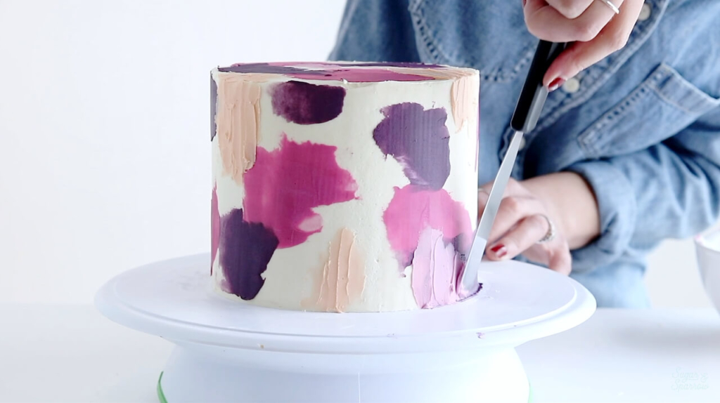 spatula painted buttercream tutorial