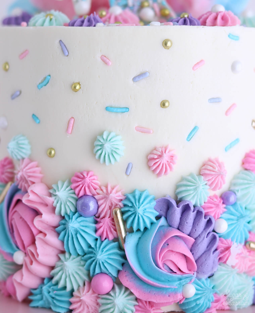 Unicorn Sprinkles by Sprinklepop on cake