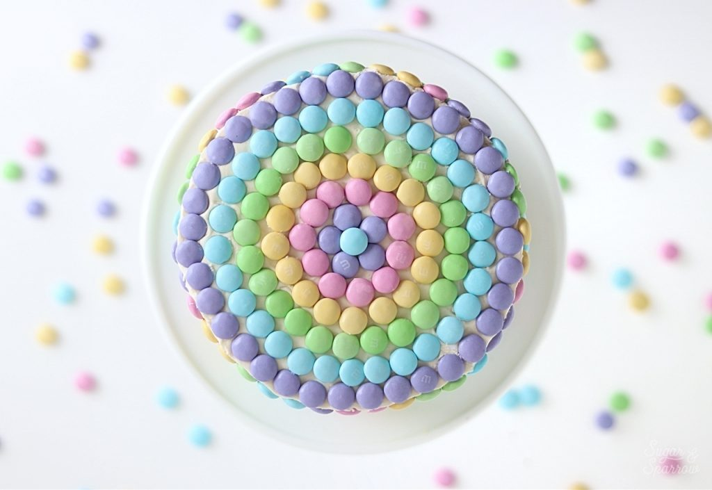 candy covered cake