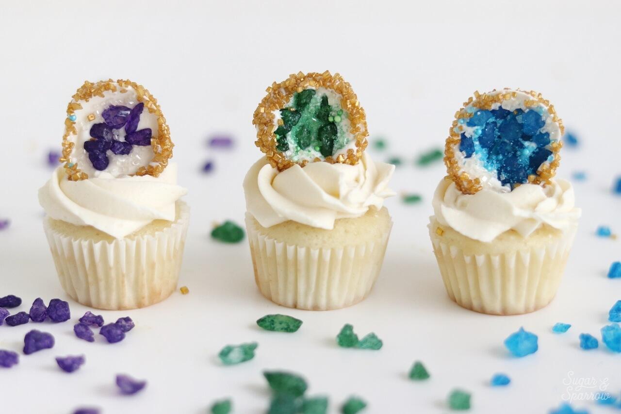 DIY geode cupcakes