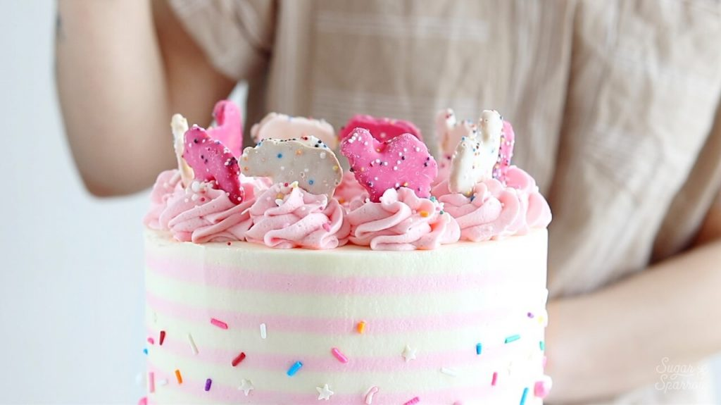 cake topped with circus animals