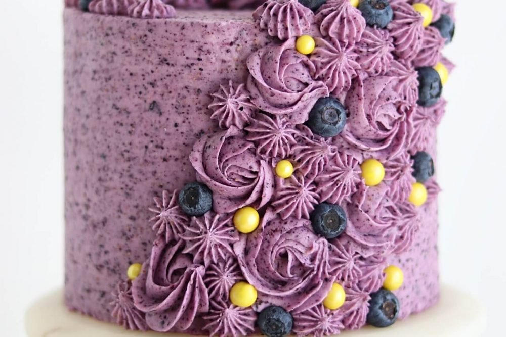 blueberry buttercream recipe by Sugar and Sparrow