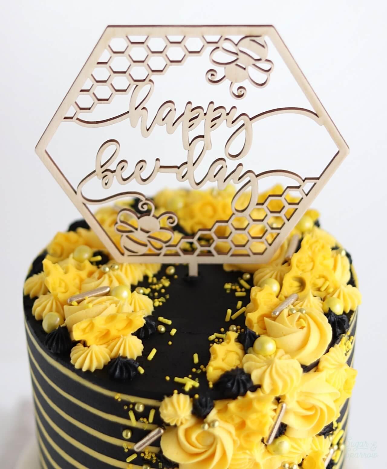 Brilliant Bee Birthday Cake 11 Sugar Sparrow Funny Birthday Cards Online Inifofree Goldxyz