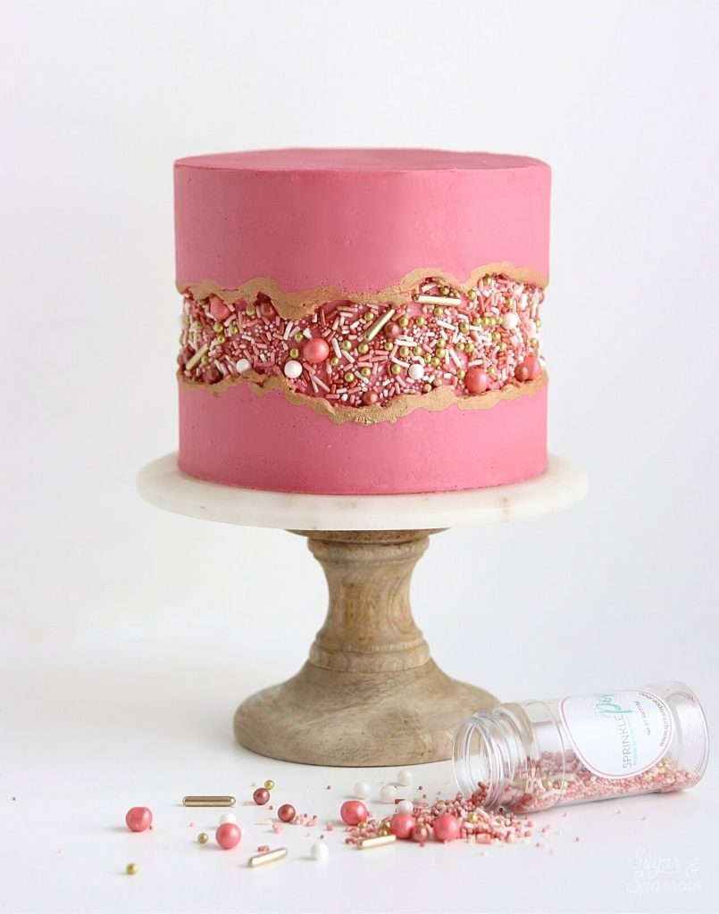 sprinkle fault line cake tutorial