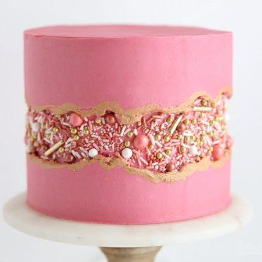 how to make a sprinkle fault line cake