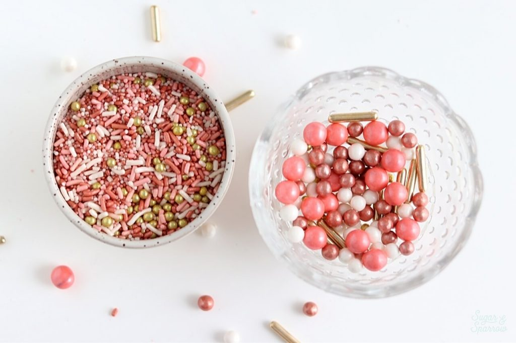 rose gold sprinkle mix by sprinklepop