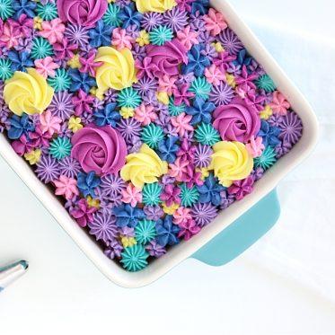 floral sheet cake tutorial