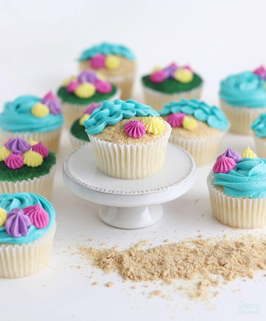 ocean cupcakes tutorial