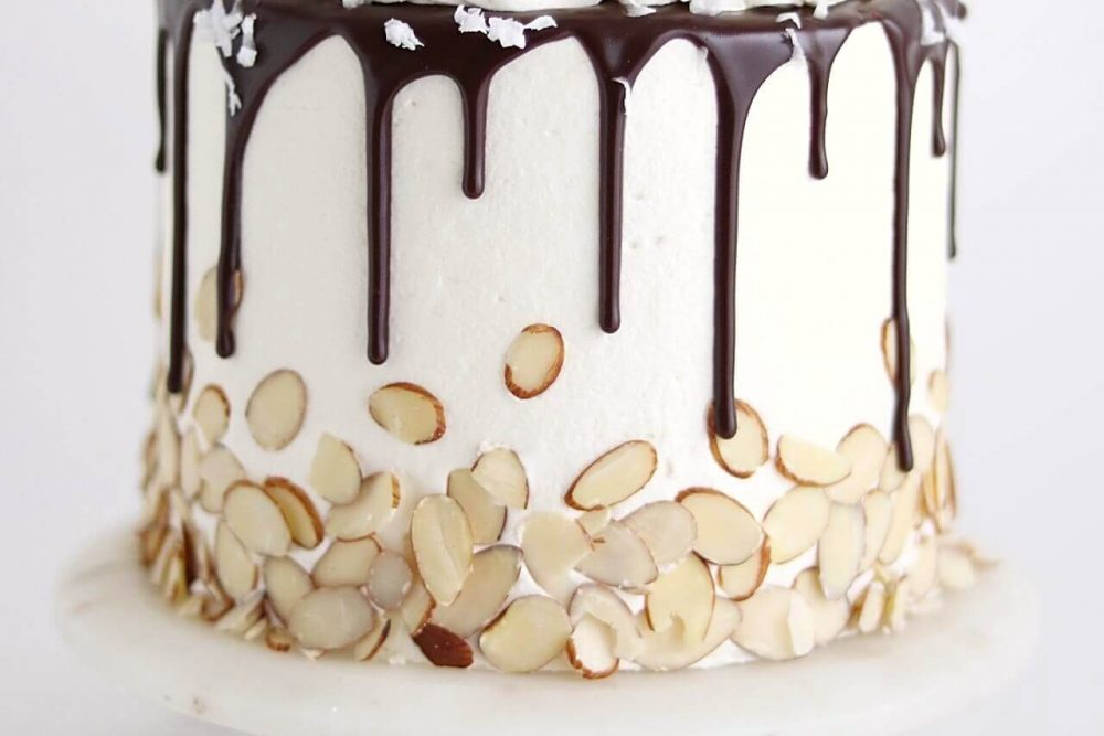 Almond Joy Cake Recipe by Sugar and Sparrow