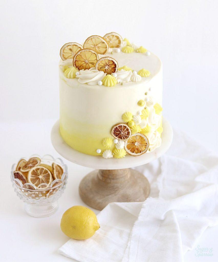 lemon layer cake with cream cheese buttercream