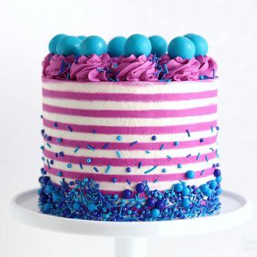 striped cake tutorial