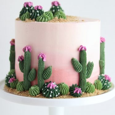 cactus cake by sugar and sparrow