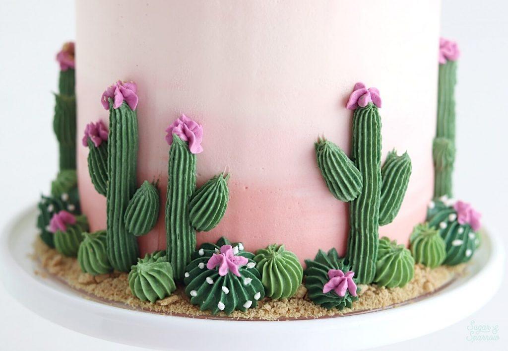 buttercream cactus piping