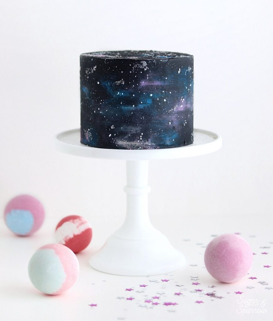 buttercream galaxy cake tutorial
