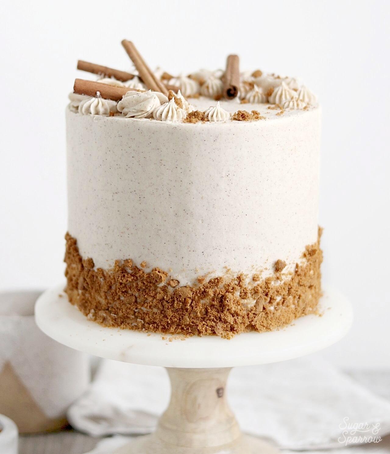 Excellent Spiced Vanilla Chai Cake Recipe Sugar Sparrow Funny Birthday Cards Online Alyptdamsfinfo