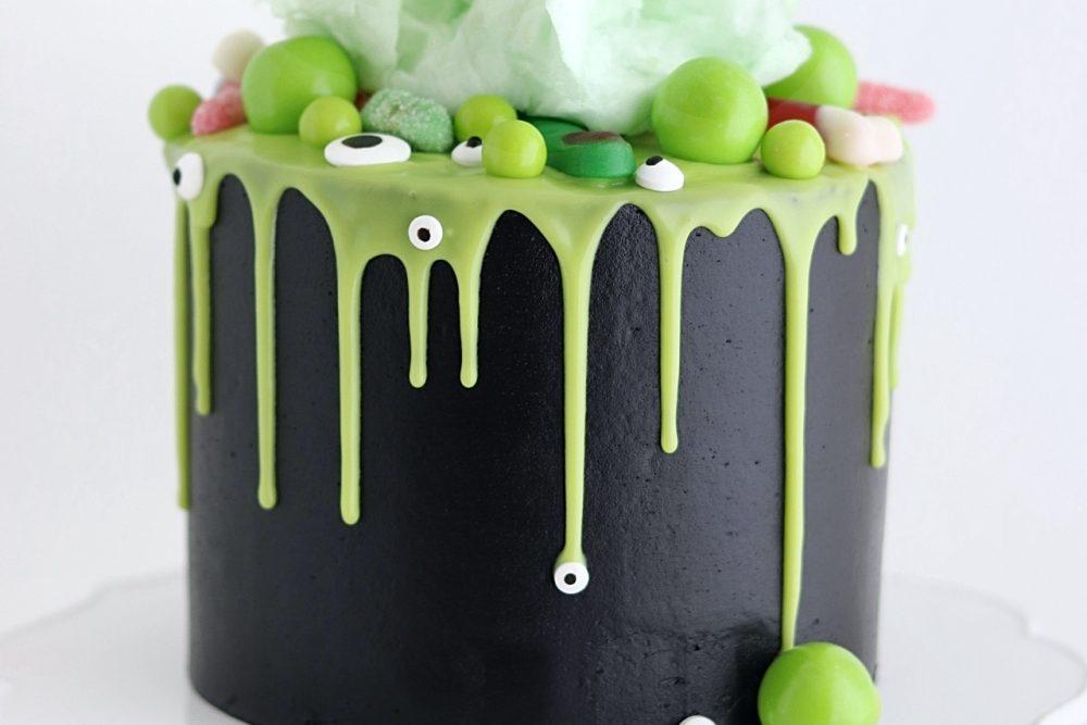 Halloween cake witches brew cauldron cake