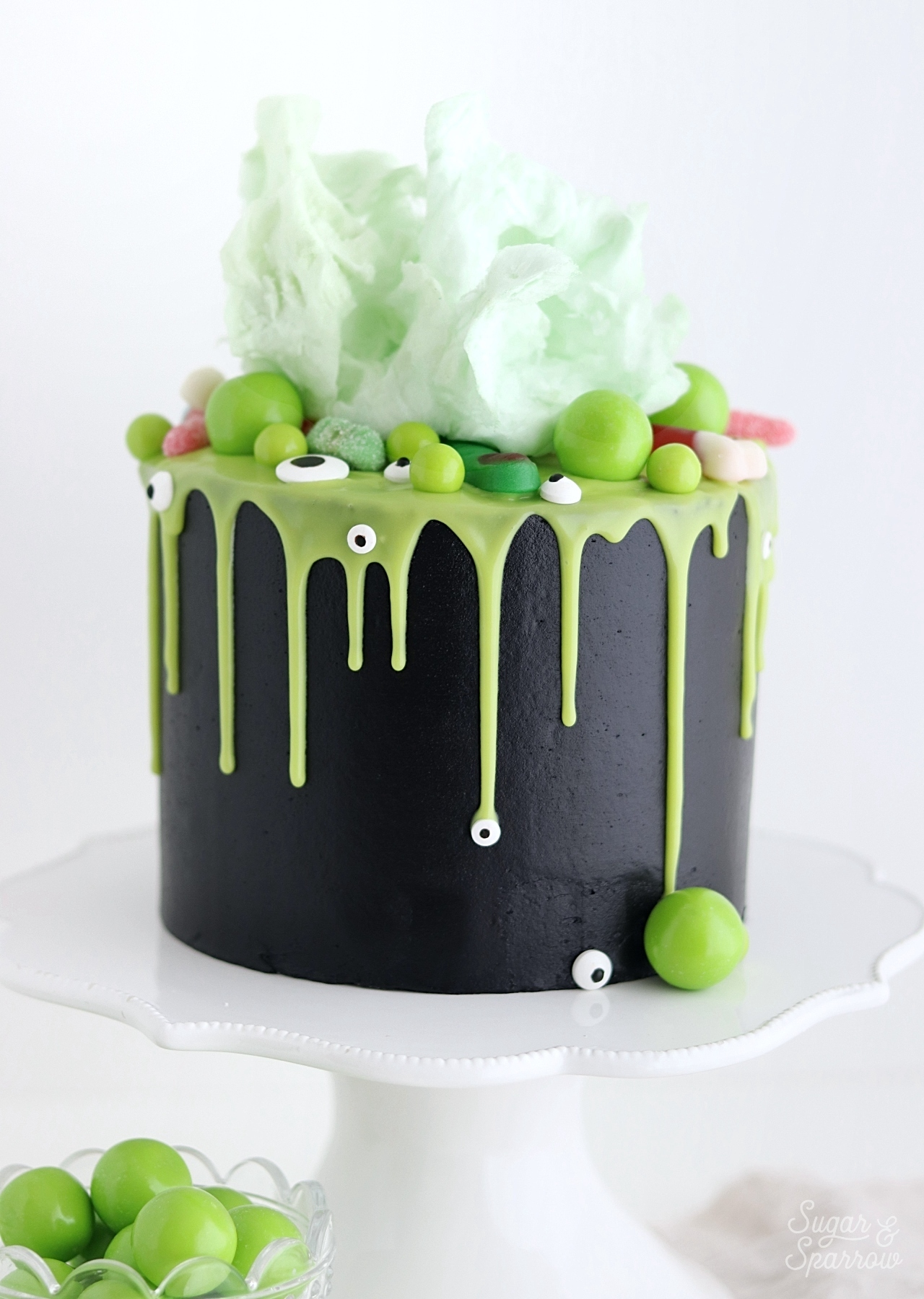 Halloween cake witches brew cauldron cake