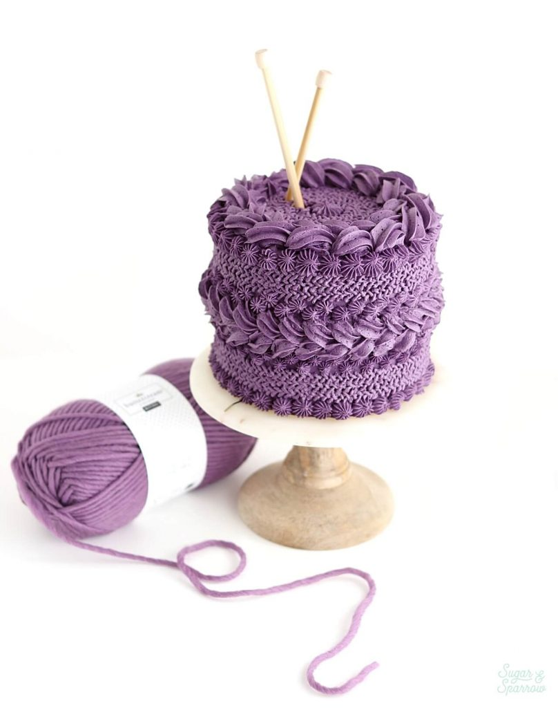 How to make a knitted buttercream cake